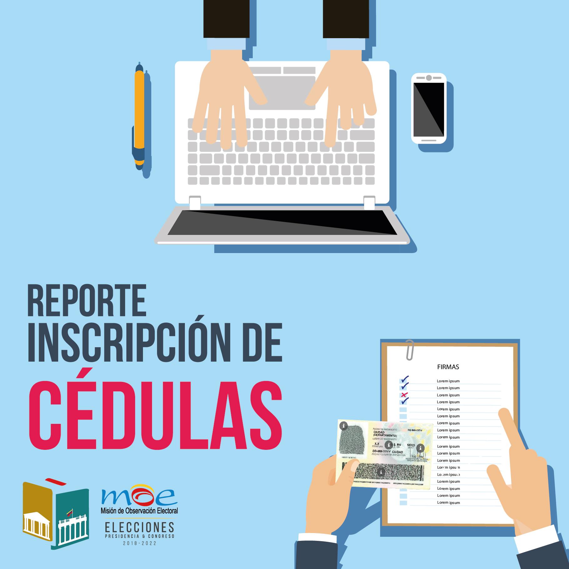 Informe. Inscripción de cédulas