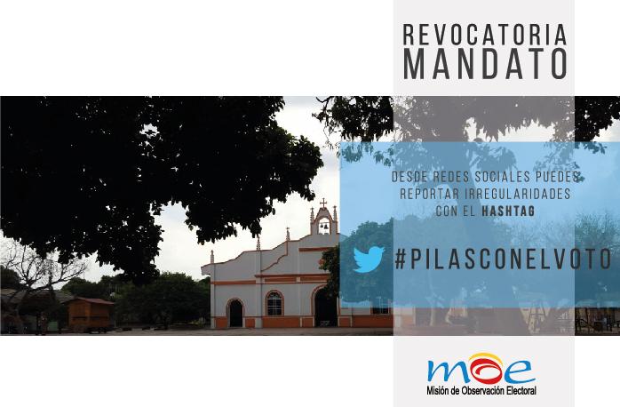 MOE observará revocatoria de mandato de Alcaldía El Copey