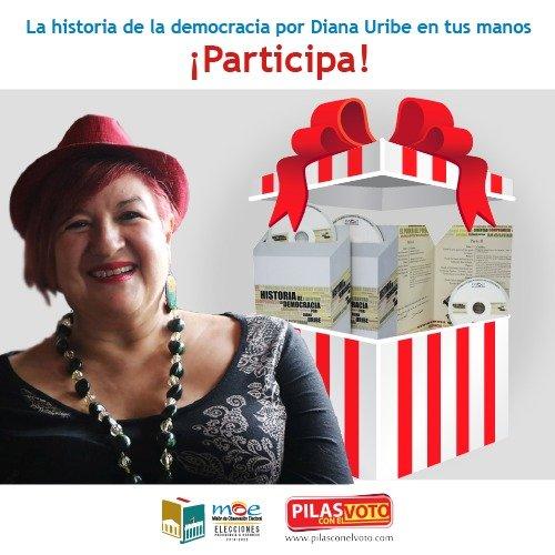 """Concurso audiolibro MOE: """"La historia de la democracia"""" contada por Diana Uribe"""