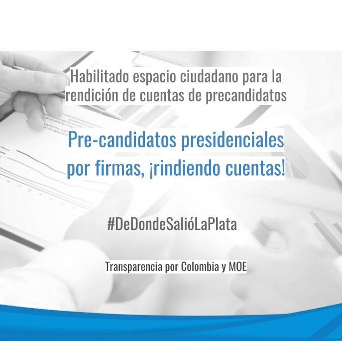 Candidatos por firmas a rendir cuentas