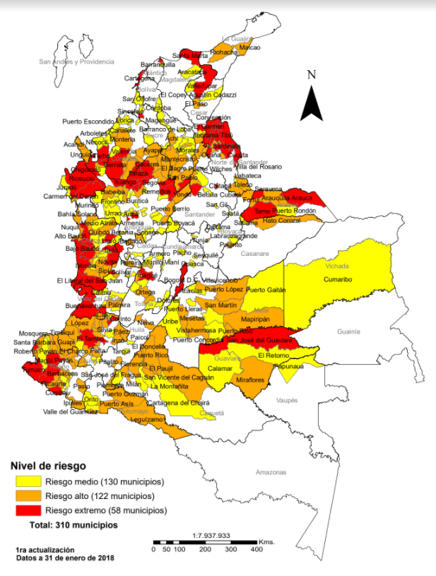 Mapa Riesgo consolidado factores de violencia