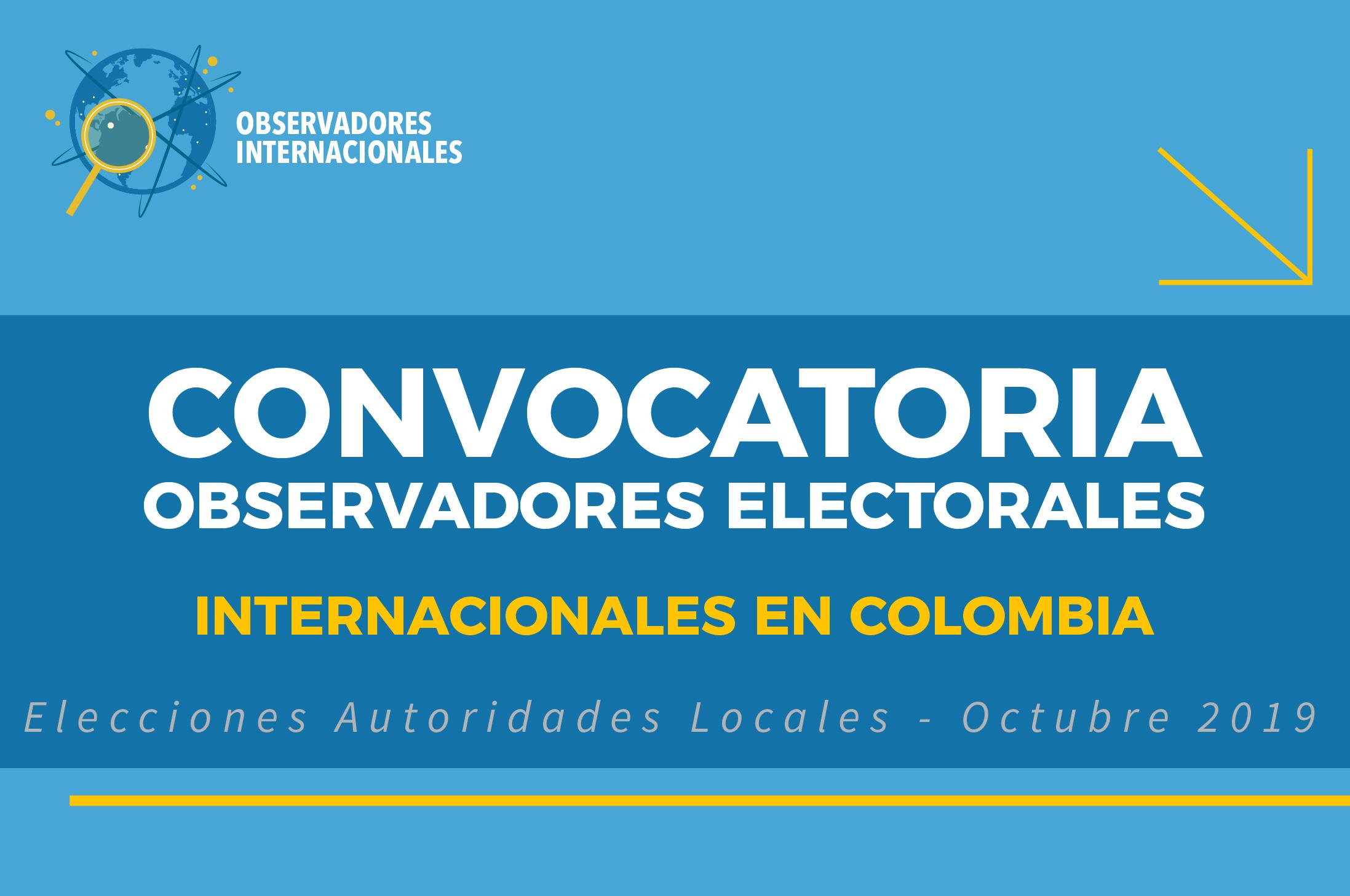 Inscripciones abiertas para observadores internacionales 2019
