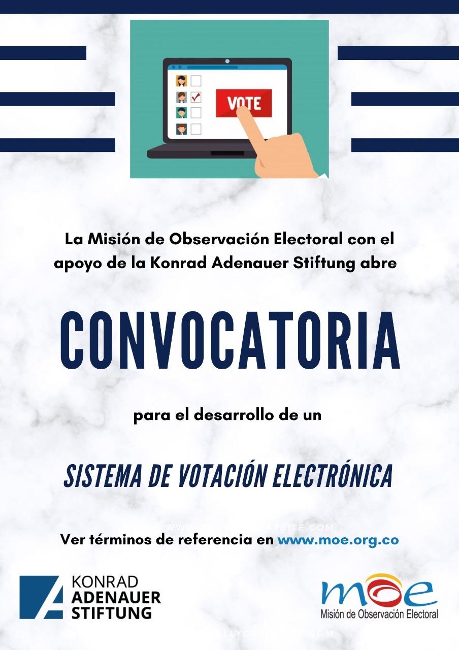 Convocatoria para desarrollar un Sistema de Votación Electrónica -MOE- abierta hasta el 26 de junio.
