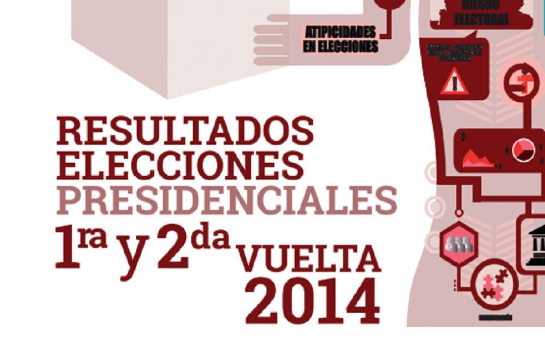 Resultados elecciones presidenciales 1ra y 2da vuelta 2014