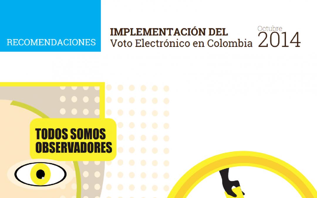 Implementación del Voto Electrónico en Colombia 2014