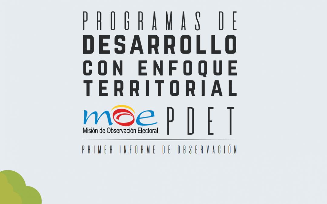 Primer informe programas de Desarrollo con Enfoque Territorial