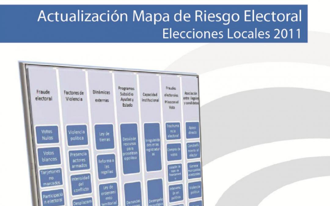 Actualización mapa de municipios en riesgo electoral 2011
