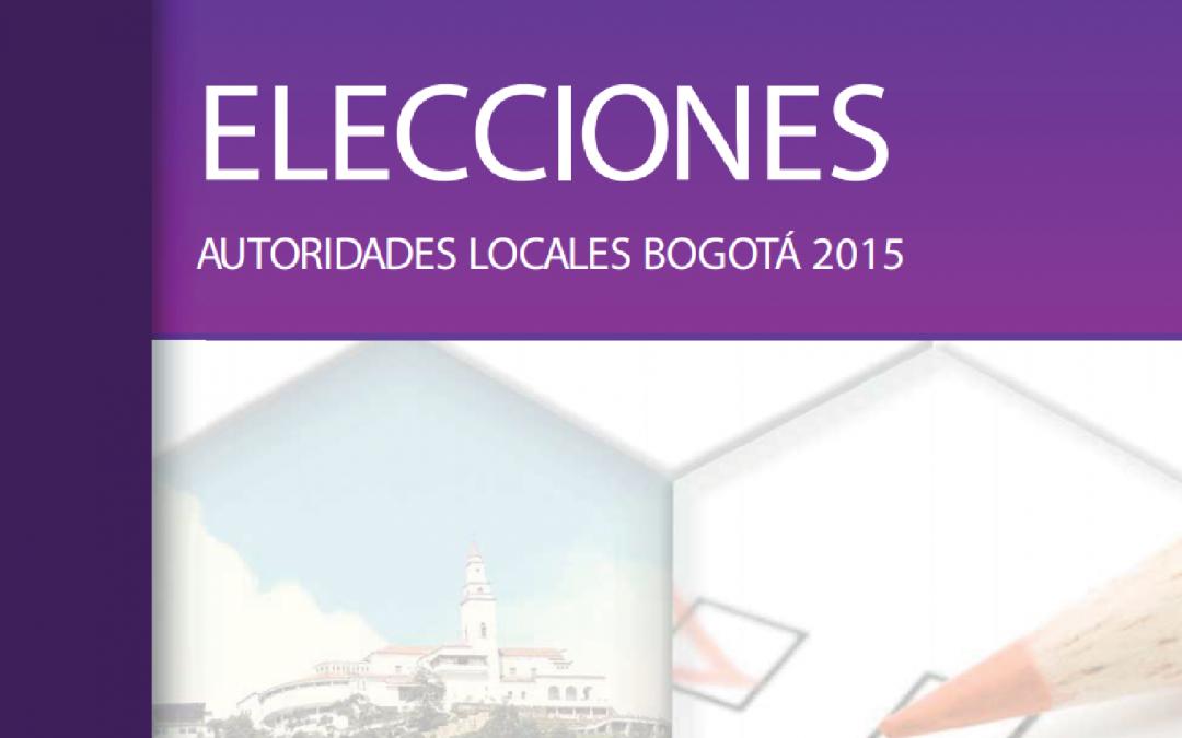 Libro MOE Elecciones Autoridades Locales Bogotá 2015