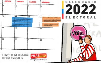 Calendario Electoral: Conozca las fechas clave para las elecciones presidenciales del 2022