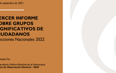 Tercer informe sobre grupos significativos de ciudadanos