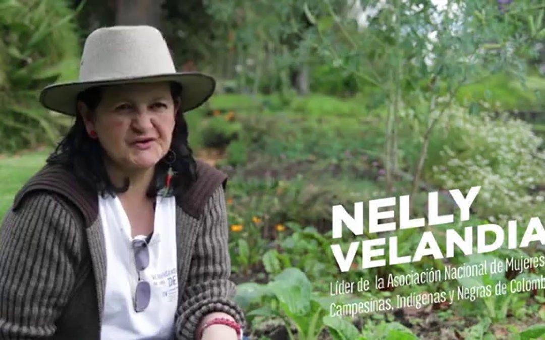 """""""Toma más de 20 años formar a un líder social para que la violencia acabe en segundos con la esperanza de un futuro"""", Nelly Velandia."""